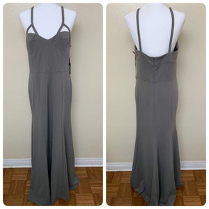 Vera Wang Lavender Sleeveless Fitted Gown 14 Gray